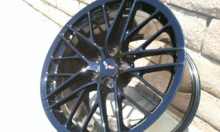 Corvette Original C6 ZR1 2009 2013 Gloss Black Wheels Rims