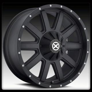 AMERICAN RACING AX805 FORCE BLACK SUBURBAN TAHOE YUKON RAM WHEELS RIMS