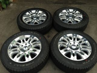 20 2012 2011 Ford F150 Platinum Edition Wheels Rims Tires TPMS 17 18