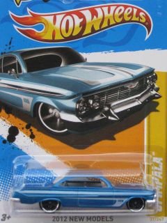 2012 Hot Wheels New Models 1961 Chevy Impala Blue
