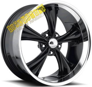 WHEELS 338 BLACK RIMS TIRES 5X115 CHRYSLER 300 2005 2006 2007 2008