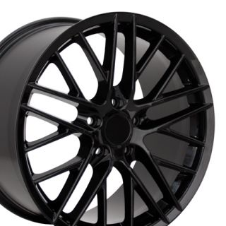Corvette C6 ZR1 Black Wheels Set of 4 Rims Fit Chevrolet Base 2008 12