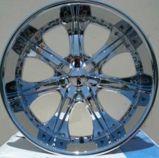 24 INCH WHEELS TIRES U2 35 CHROME AVALANCHE 2007 2008 2009 2010 2011