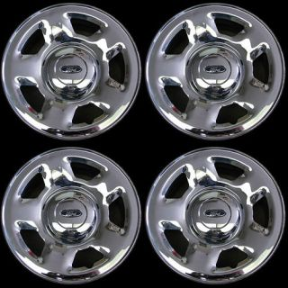 Slightly Used 2004 2008 Ford F150 17 Chrome Steel Wheels with Center