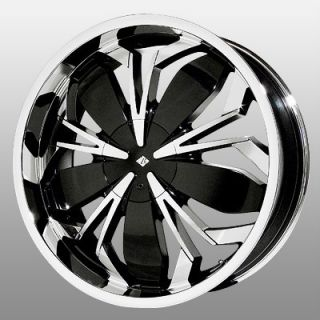 20 inch Black Ice Black Widow Chrome Wheels Rims 4x4 5 Reno Swift