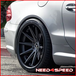 E500 E550 E55 Rohana RC10 Black Concave Staggered Wheels Rims