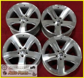 09 10 11 Dodge Challenger 18 Machined Silver Wheels Used Rims w