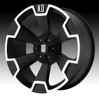 22 inch 22x10 KMC XD Black Wheels Rims 8x170 Ford F250 F350 Excursion