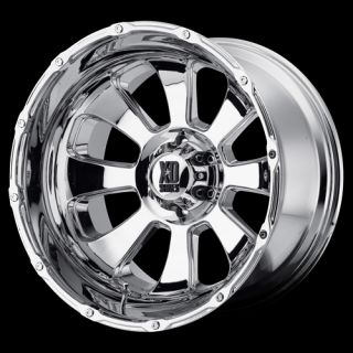 20 x 12 XD779 Armour 8x6 5 Silverado Avalanche H2 Chrome Wheels Rims
