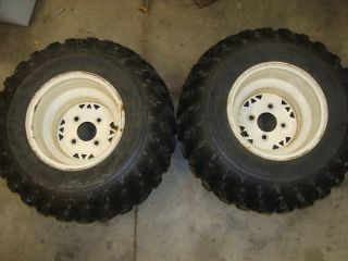 98 POLARIS 250 TRAIL BOSS BLAZER REAR WHEELS TIRES RIMS ATV 22X11 10