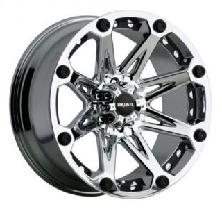Jester Chrome Rims 33x12 50x18 Nitto Mud Grappler Tires Wheels