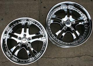 PRIMAX 014 20 CHROME RIMS WHEELS INFINITI G35 G37 STAGGERED/ 20 X 8.5
