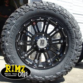 20 XD Hoss Wheels Black 35x12 50 20 Federal MT 35 Tires Ford Chevy