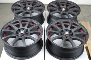15 4x100 4x114 3 Matte Black Effect Wheels Yaris MR2 Civic Xb Cooper 4