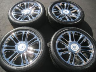 ESCALADE PLATINUM CHROME WHEELS TIRES SILVERADO TAHOE SIERRA 17 18