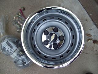 15x8 Chevy Truck Pickup Impala Rally Wheels Rims 5 Lug