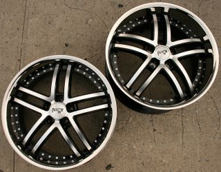 Niche Essence 877 20 Black Rims Wheels Nissan 350Z Staggered 20 x 8 5