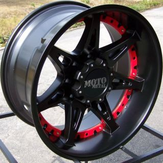 20 Black Moto Metal 961 Wheels Rim Chevy GMC Dodge Ford 2500 3500 HD
