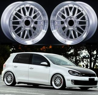 18 Mesh LM s Alloy Wheels Fit VW Golf MK5 MK6 GTI TDI GT R32