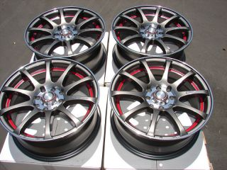 15 4x100 4x114 3 Gun Metal Effect Wheels Tiburon Accord Miata Jetta