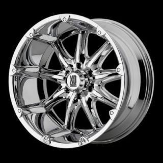 XD Badlands Wheels Rims Chrome 18x9 1988 1998 Ford F250 & F350 Super