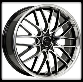 VORTEX 302MB 5X4 5 100 AVENGER MUSTANG TT BLACK CHROME WHEELS RIMS