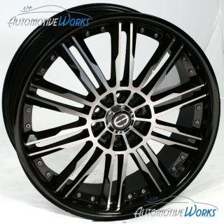 Edge ED20 5x108 5x4 25 5x115 42mm Machined Black Wheels Rims Inch 17