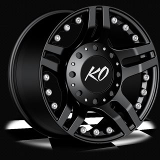 17 Black REV KO Guillotine Wheels Jeep Wrangler Dodge RAM 1500 Truck 5