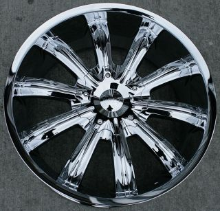 22 inch Incubus Chrome Wheels Rims Nissan Altima Maxima