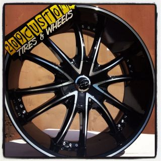22 inch 22 Bossini VCT Black Wheels Rims Tires Blazer s 10 Camaro Z28
