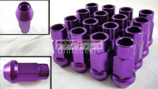 Piece Wheel Rim Racing Forged Long Lug Nuts 50mm M12 x 1 25 JDM