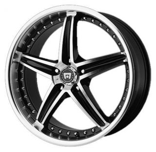 MOTEGI MR107 5X4 25 THUNDERBIRD JAGUAR S X TYPE LR2 BLACK WHEELS RIMS