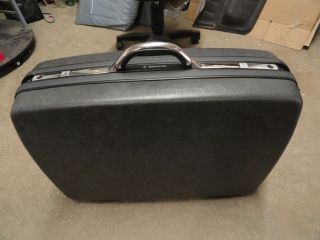 SILHOUETTE 4 LUGGAGE SUITCASE 1987 HARD SIDE NICE WHEELS 28 in D GRAY