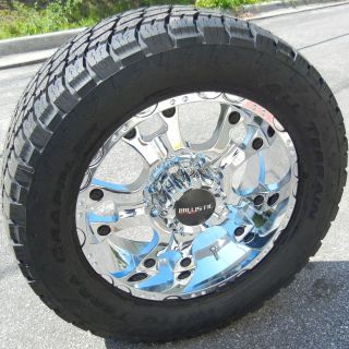 20 Chrome Ballistic Hostel Wheels Rim Nitto Terra Grappler Tires Ford