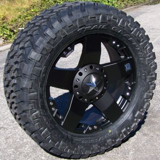 20 Black XD Rockstar Wheels Rims 33 Nitto Trail Grappler Chevy