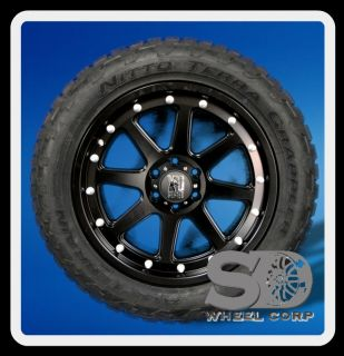 20 Wheels Rims XD Addict Matte Black with 265 50 20 Nitto Terra