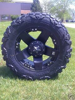 20 Wheels Rims XD Rockstar Matte Black with 37x13 50x20 Nitto Mud