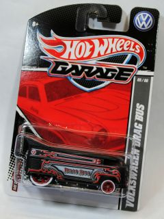 HOT WHEELS GARAGE  30 CAR SET   VW VOLKSWAGEN DRAG BUS ding on