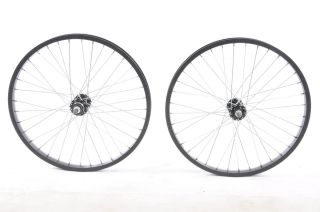 Pair of BMX Black Wheels 3 8 CrMo 36 Spoke Alex Alloy Rim New