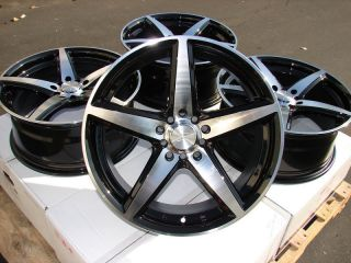 16 Black Wheels Rims Cavalier Cirrus Sunfire Impreza Matrix Prius