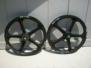 New 20 ACS Z Mags BMX Front Rear Wheel Set Rims Black