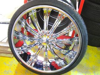 22 Wheels Rims Package Free Tires Bentchi B15 Triple Chrome 5x114 3
