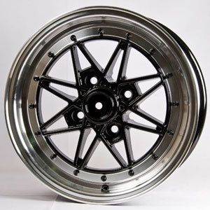 15 Rota Flashback Black Rims Wheels 15x7 40 4x100 Civic Fit Integra