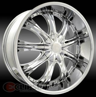 20x7 5 Et 38 Chrome Elure 016 Wheels Rims 5 Lug Front Wheel Drive Cars