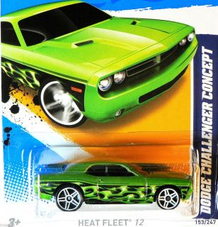 Hot Wheels Heat Fleet 12 Dodge Challenger Concept N Case