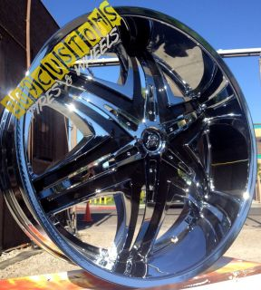 24 inch Rims Wheels Tires Diablo Elite Chrome 6x135 Ford F150 2004