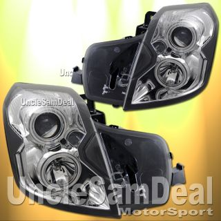Cadillac cts Dual Halo Rims Projector Chrome Headlights Halogen Lights