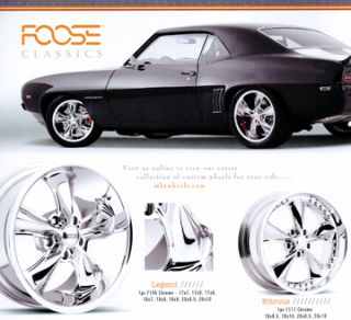 18 inch Nitrous Classic Hot Rod Chrome Rims Wheels Tires