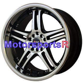 18 XXR 502 Black Machine Rims Wheels Staggered 90 91 93 94 95 96