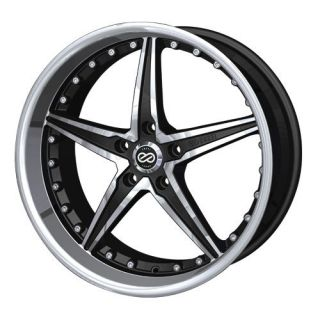 18 Enkei LSR Black Rims Wheels 18x7 5 42 5x110